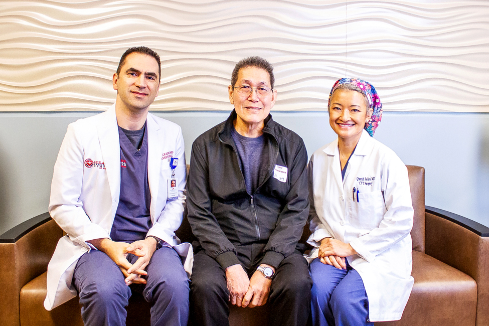 Patient with two physicians who cared for him