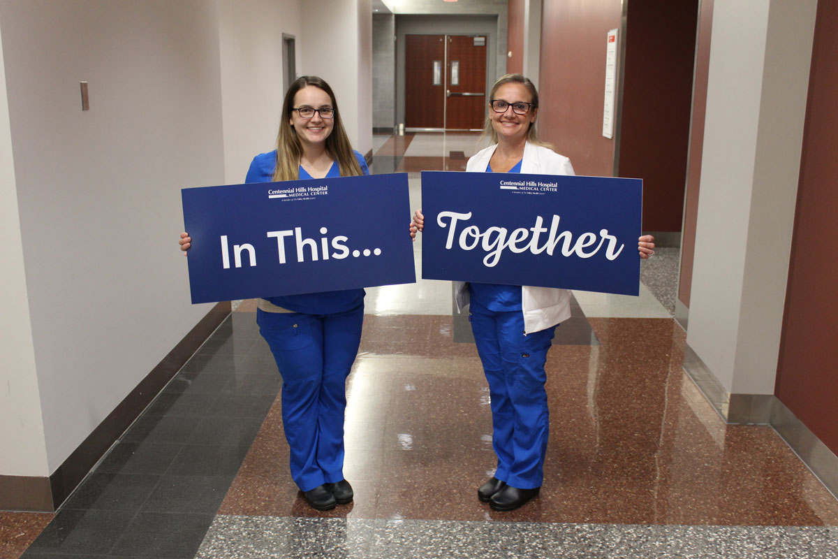 Mother and Daughter Nursing Team on the Front Lines