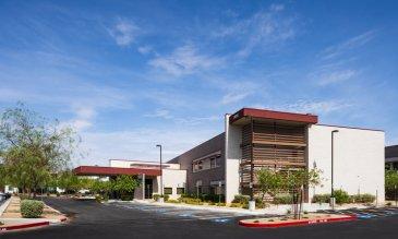 Exterior del Hospital de Especialidades de Valley Health
