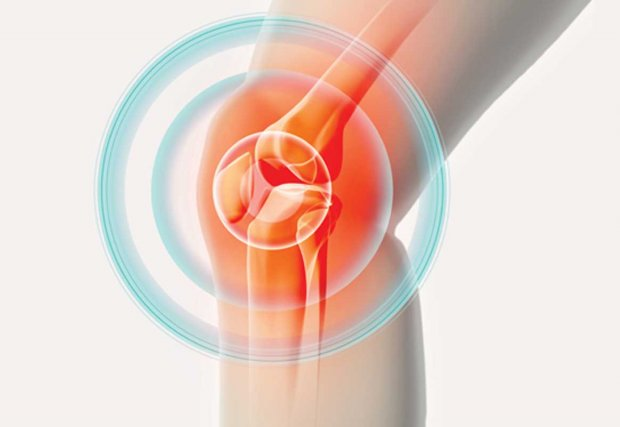 Illustration of pain radiating from knee