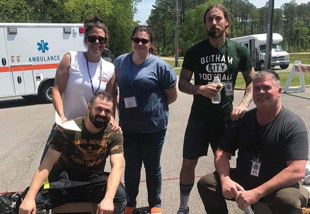 Emergency team at FEMA training