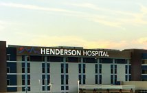 Henderson Hospital exterior shot of building.